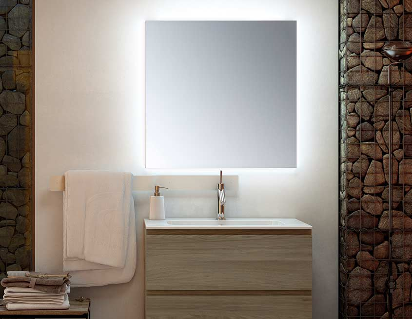 Actualiza tu ba o 3 propuestas para 1 espacio uniba o - Espejos retroiluminados bano ...