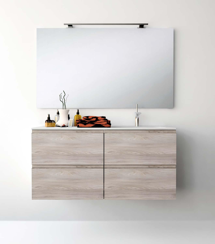 Espejos con apliques para el cuarto de ba o uniba o for Iluminacion encimera