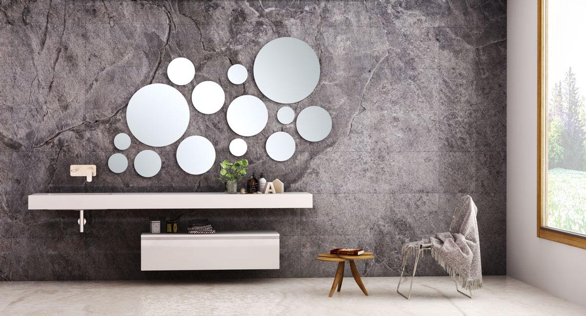 Grandes espejos para ba os peque os uniba o Espejos pequenos pared