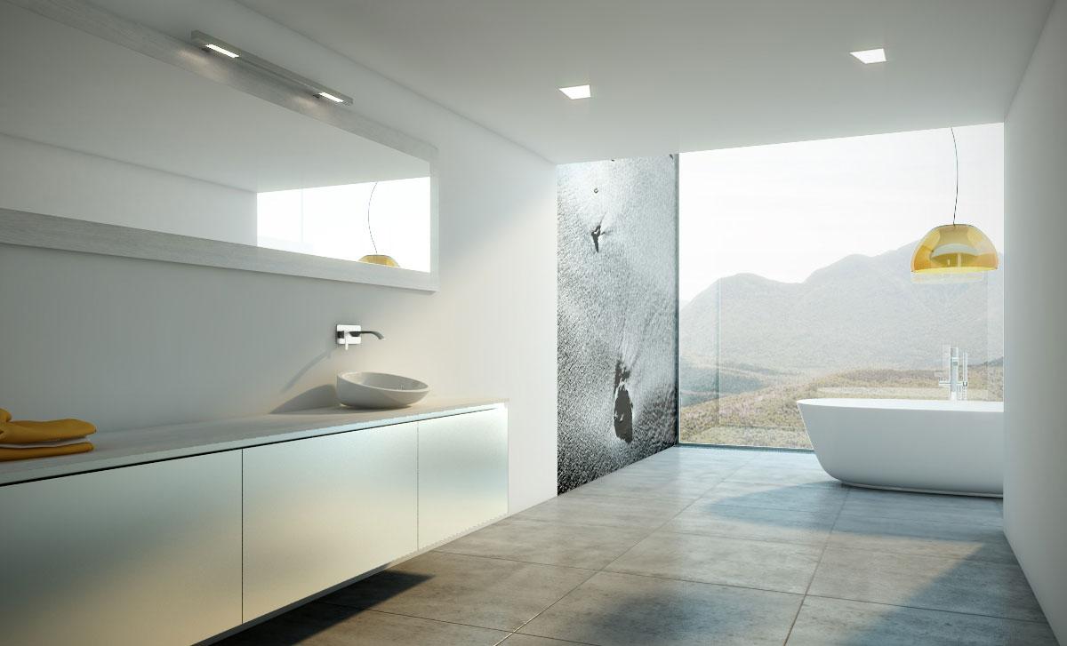 Espejos con apliques para el cuarto de ba o uniba o for Focos para espejos de bano