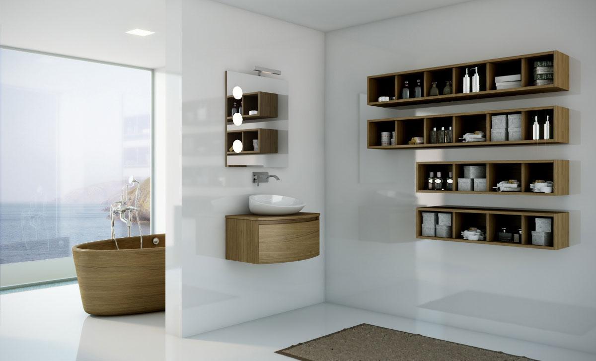 Espejos con apliques para el cuarto de ba o uniba o - Espejos con luces ...