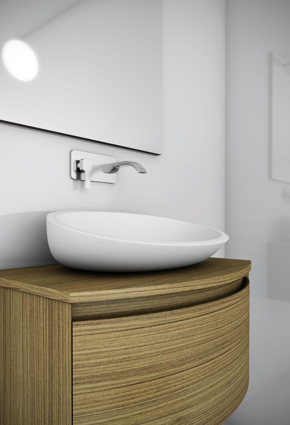 Qu muebles son los m s pr cticos para los ba os peque os - Muebles para lavabos sobre encimera ...