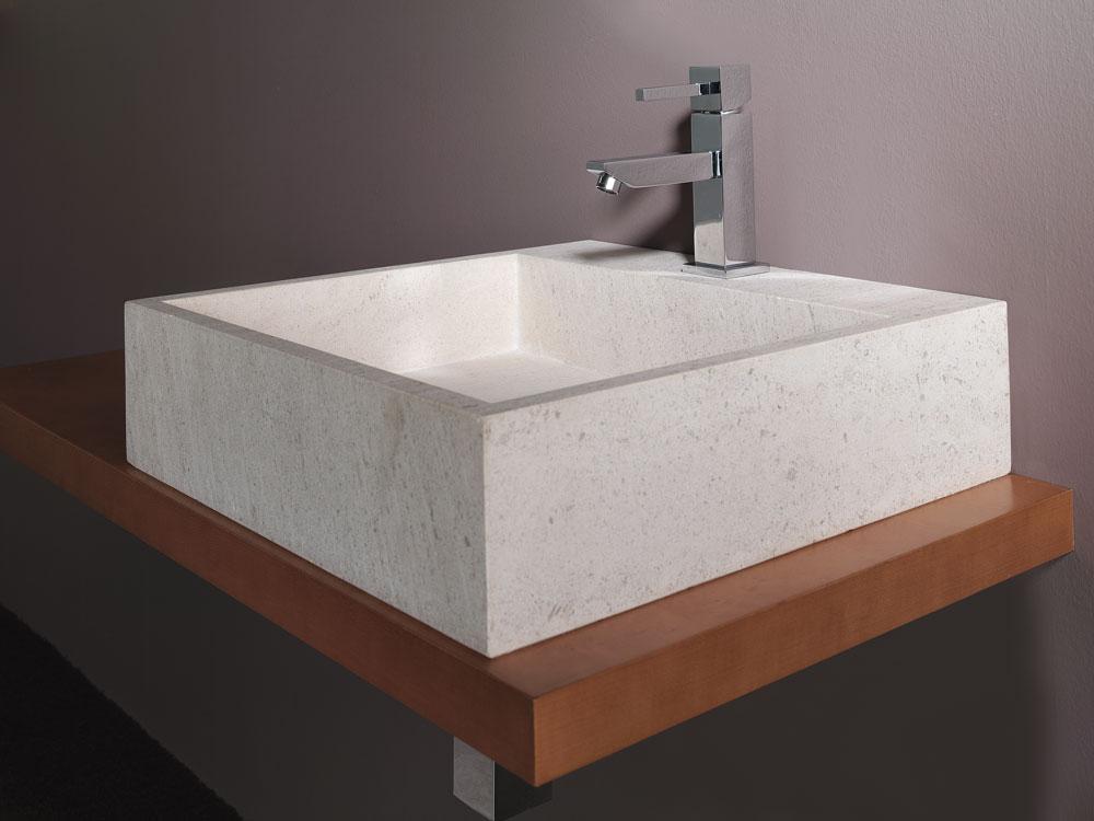 Lavabos encimeras for Lavabo sobre encimera piedra