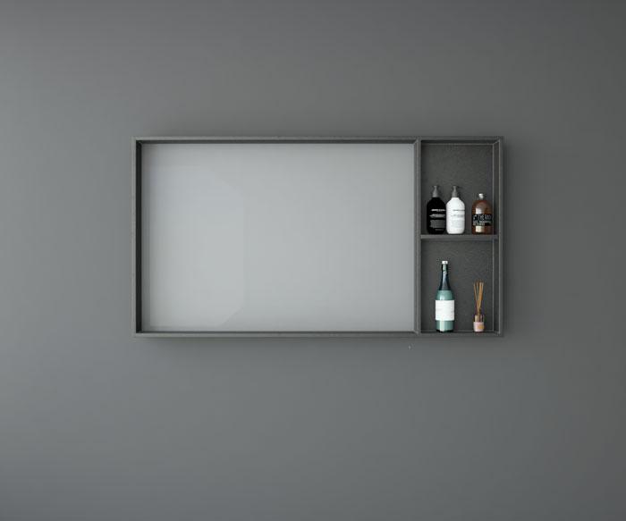 Espejo enmarcado 4 huecos vistos uniba o for Espejos enmarcados