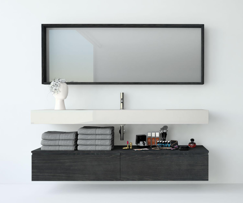 Espejos de baño personalizados: a medida, con iluminación, con estantes…