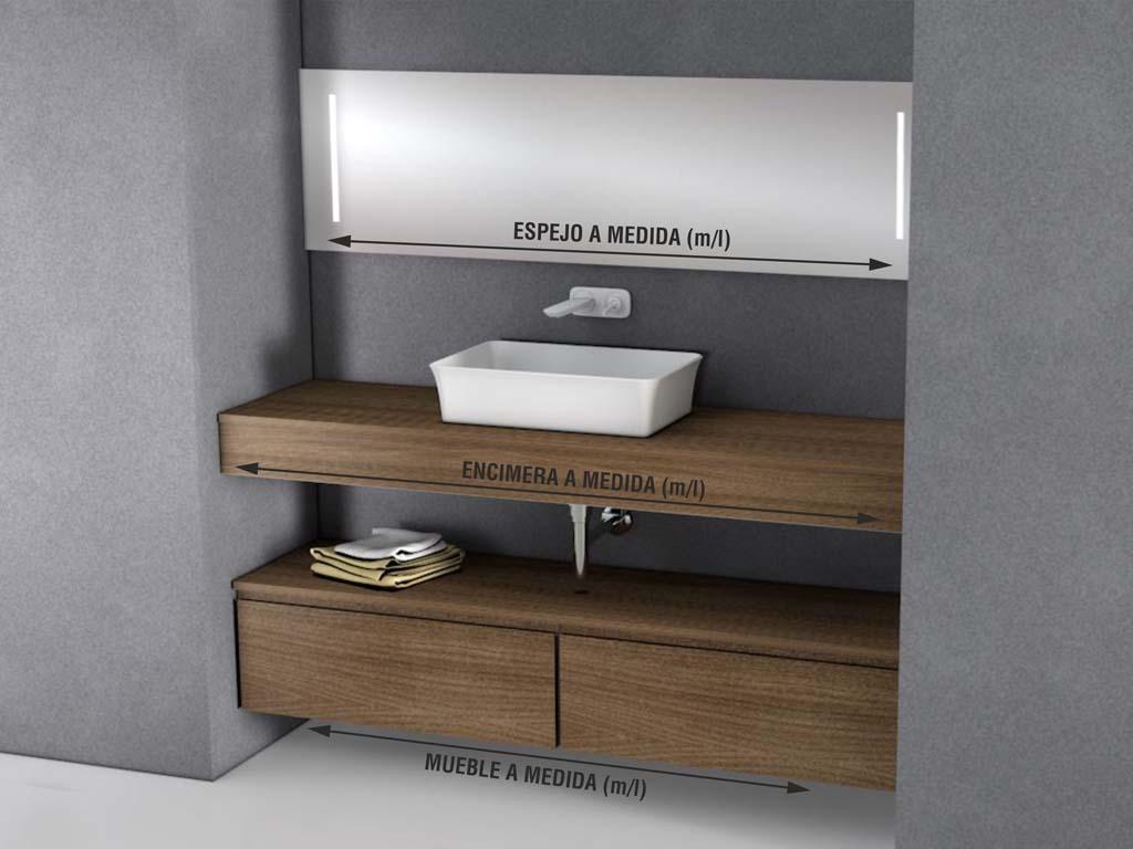 Ba os a medida ejemplos de ba o con muebles fabricados a for Ejemplos de muebles ergonomicos